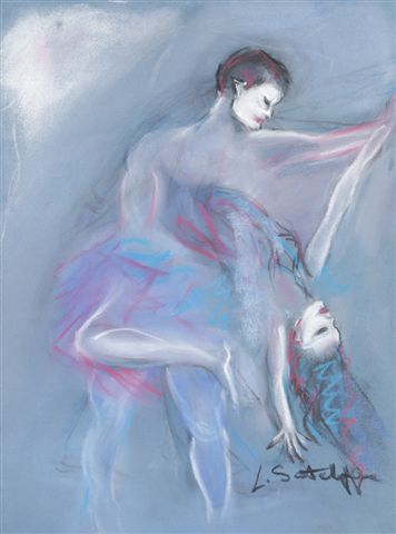 """Danced with the Devil""  pastel"