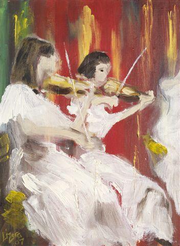"""Duet""  oil on canvas"