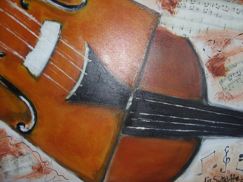 """My Cello""  in oils"