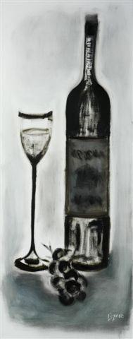 """Another Glass""   oil on canvas"