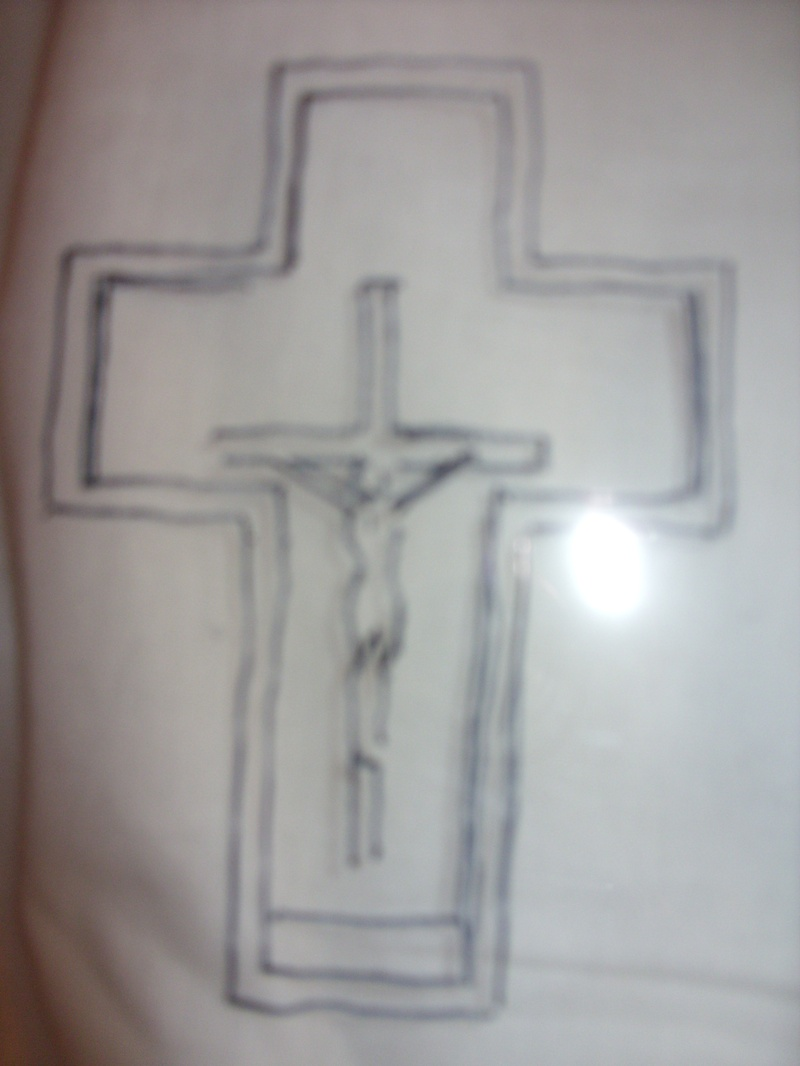 The Cross through a Window sketch