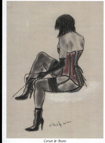 """Corset & Boots"" in pastel"