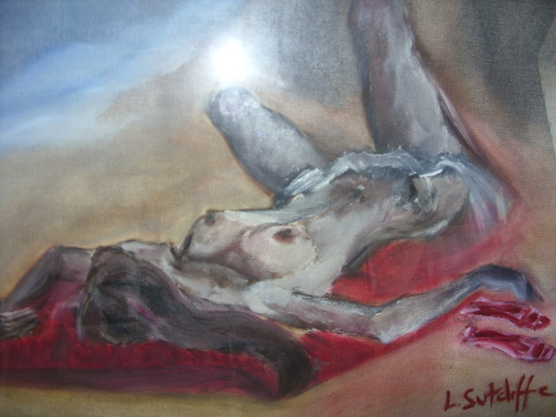 """Sunbather""  oil on canvas"